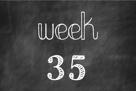 Week 35 – Only 5 more weeks to go!