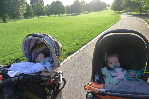 The view from Zoë's stroller…