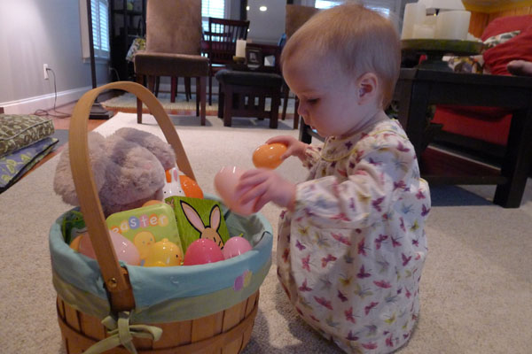 Zoë's first Easter…